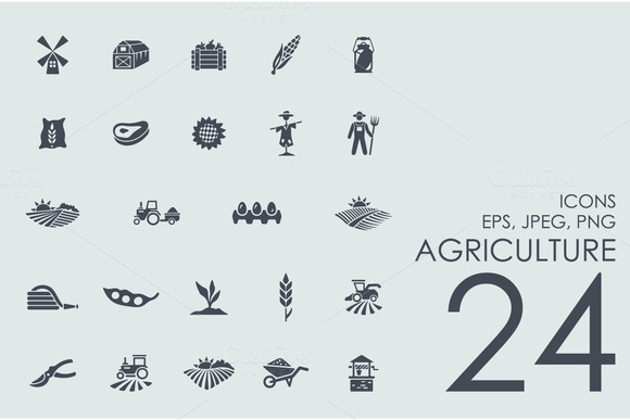 24 Agriculture Icons