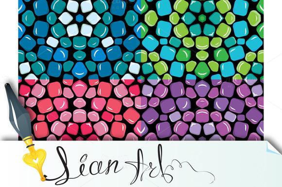 Set Of Seamless Mosaic Patterns