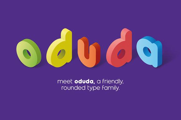 Oduda Rounded Typeface