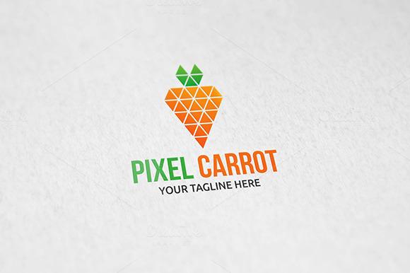 Pixel Carrot Logo Template