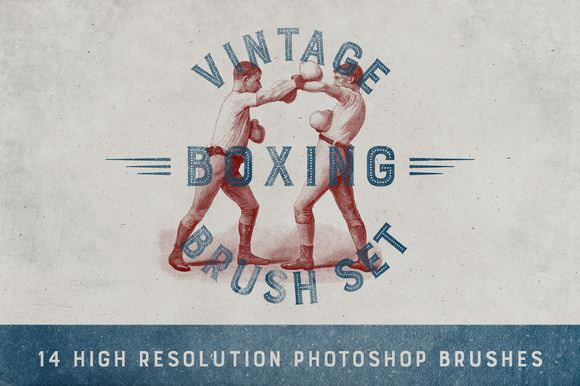 Vintage Boxing Brush Set