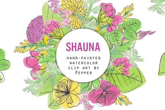 Shauna Watercolor Flower Drawings