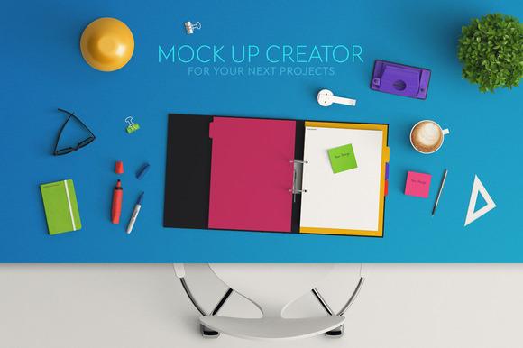 Header Mock Up Scene Creator