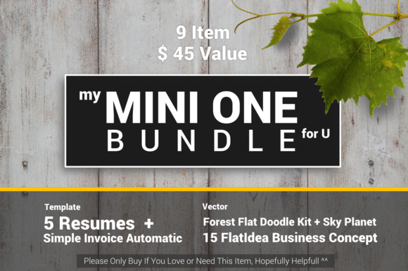 Mini One Bundle Template Vector