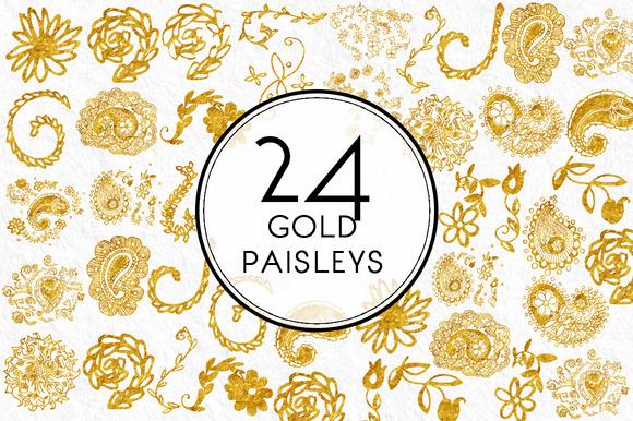 Gold Paisleys