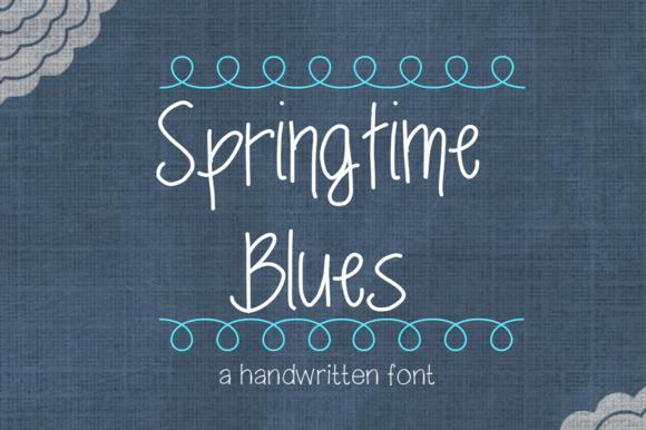 Springtime Blues- Handwritten Font