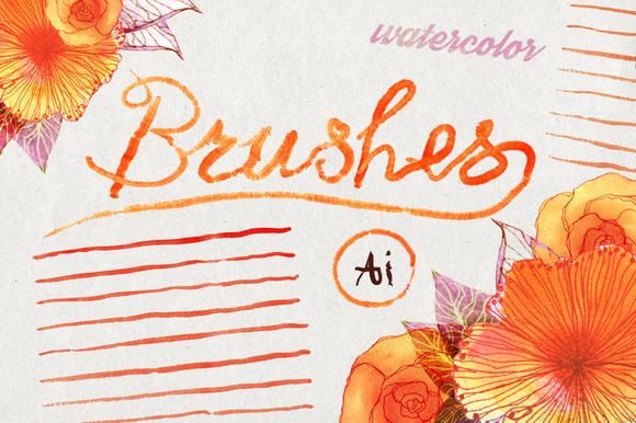 Illustrator Watercolors Brushes