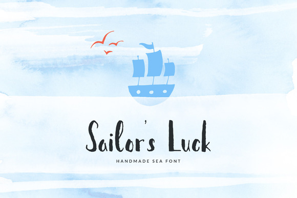 30% OFF Sailor S Luck Sea Font