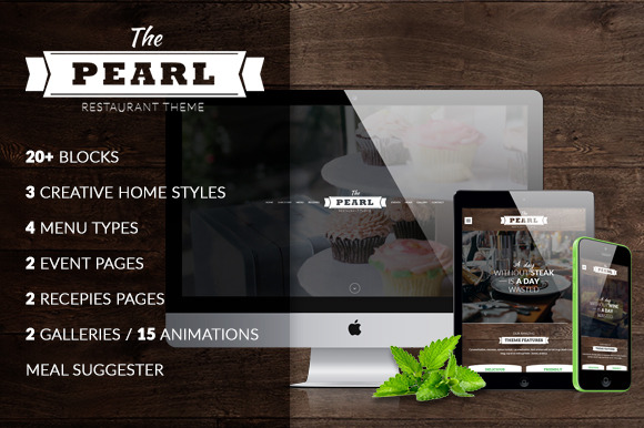 The Pearl Restaurant HTML Template