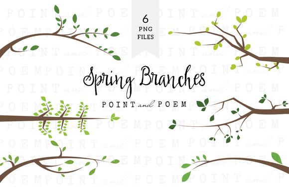 Branch Silhouettes Clipart Spring