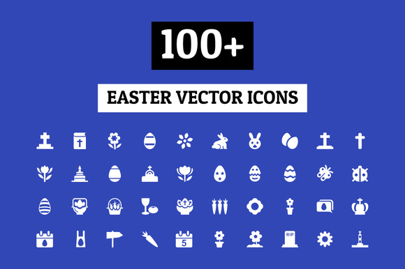100 Easter Vector Icons