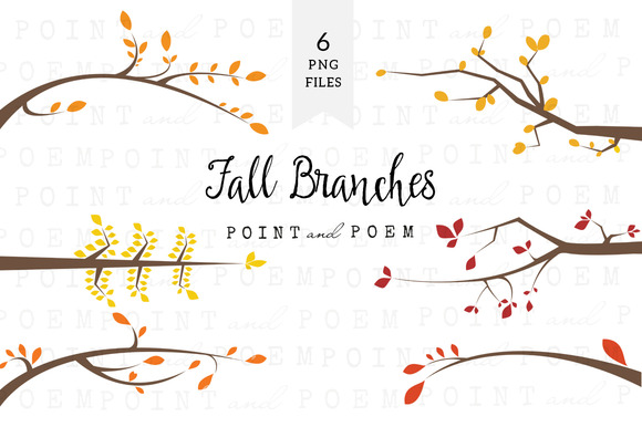 Branch Silhouettes Clipart Fall
