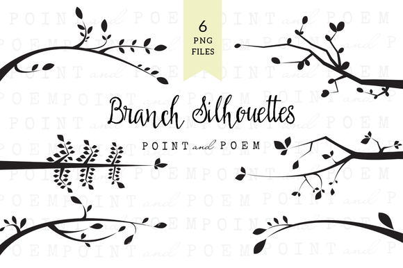 Branch Silhouettes Clipart Black