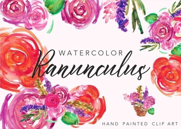Watercolor Floral Bouquets