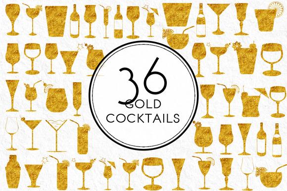 Gold Cocktails