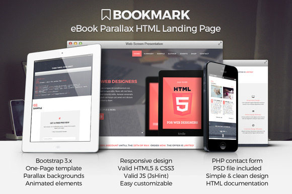Bookmark EBook Landing Page