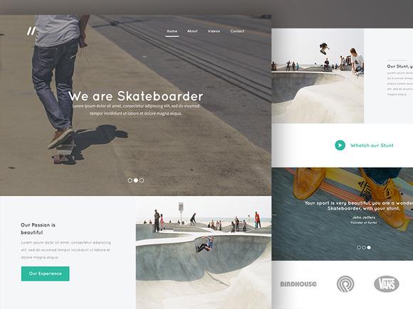 Landing Page Skateboarder