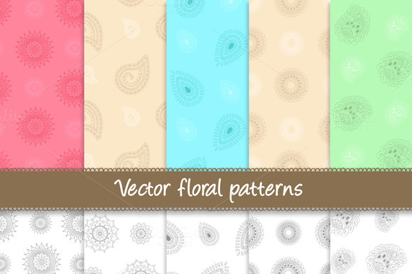 Vector Floral Patterns 20