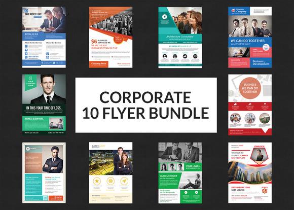 Business Flyers Bundle Print Templat