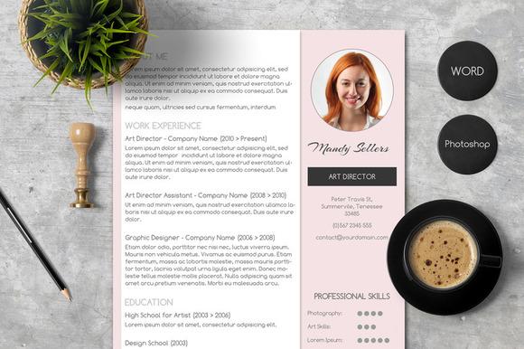 Pink CV Cover Letter