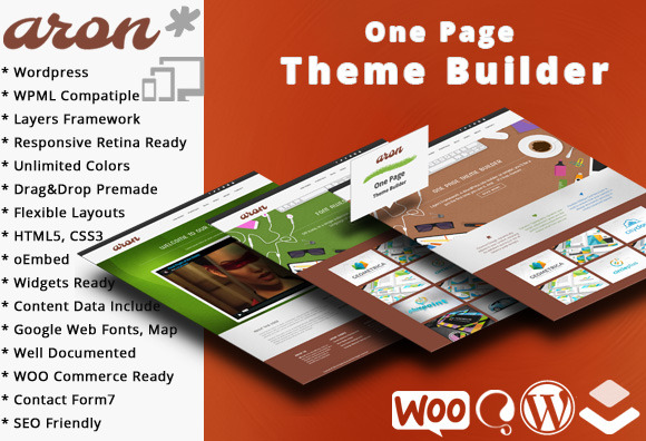 Aron One Page Theme Builder WP