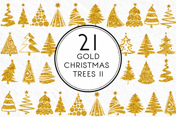 Gold Christmas Trees