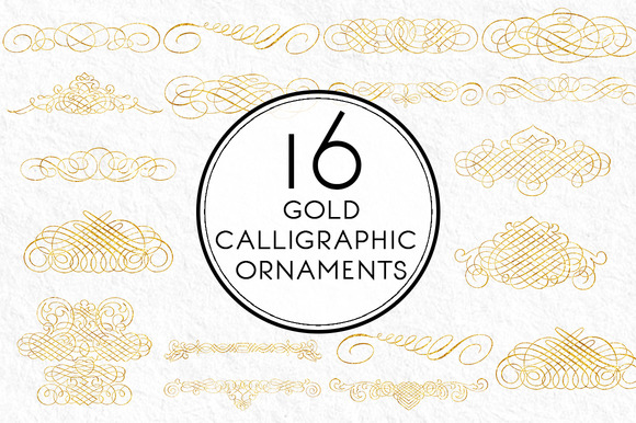 Gold Calligraphic Ornaments