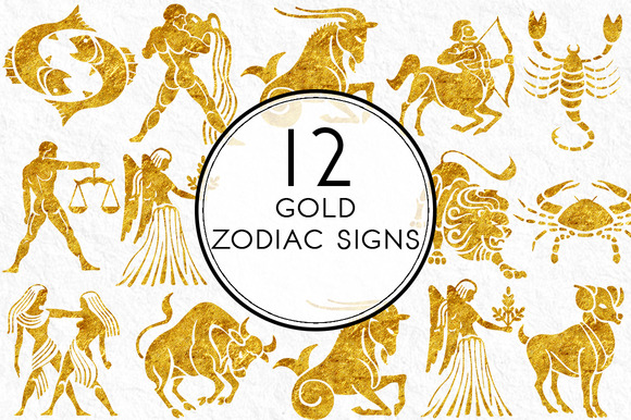 Gold Zodiac Sign