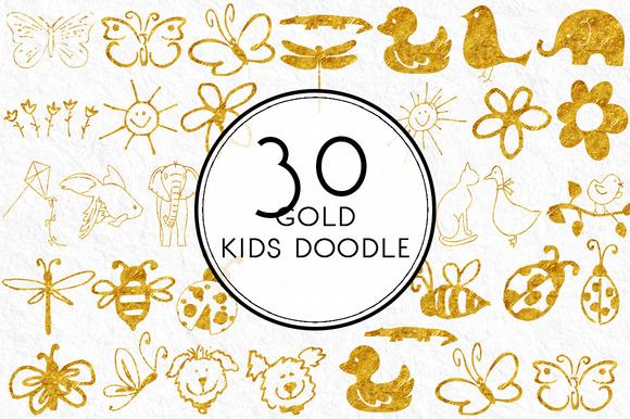 Gold Kids Doodle