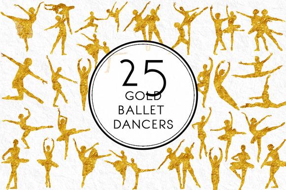 Gold Ballet Dancers