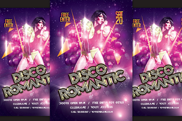 Disco Romantic Flyer
