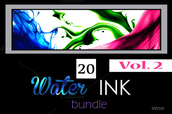 20 Water Ink Backgrounds Vol 2