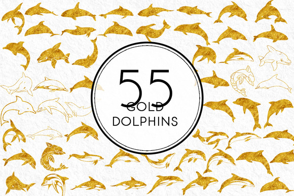 Gold Dolphins