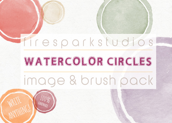 Blank Circles Watercolor Image Set
