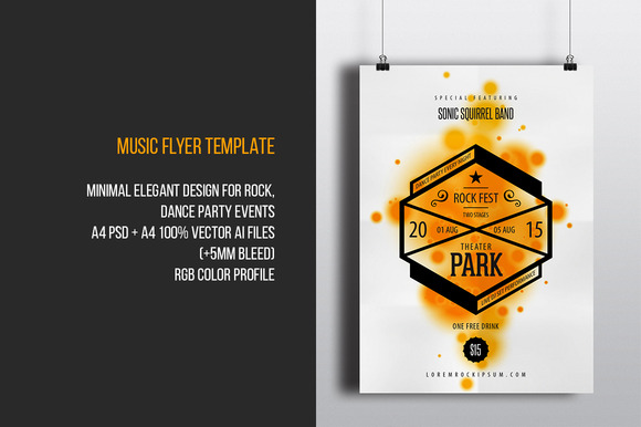 Rock Club Music Flyer Template