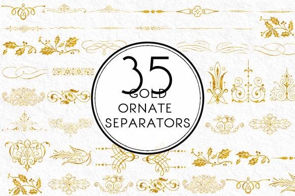 Gold Ornate Separators