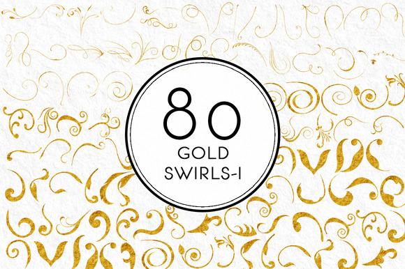 Gold Swirls 1