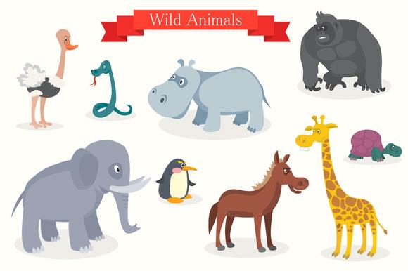 Animal Cartoons Safari Wild Nature