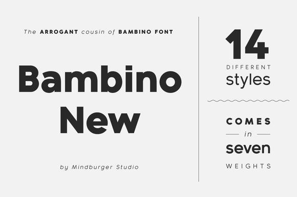 Bambino New Font Family 14 Fonts