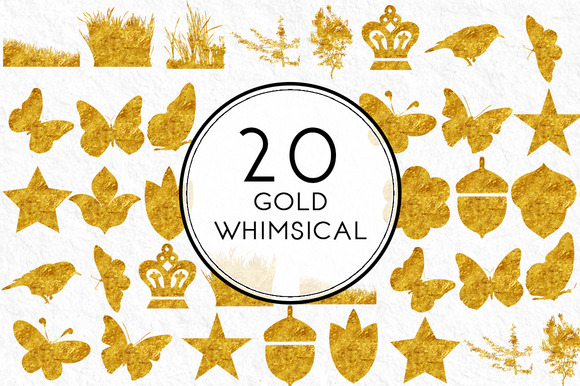 Gold Whimsical Elements