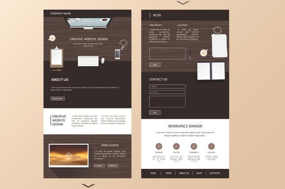 Landing Page Eps 10
