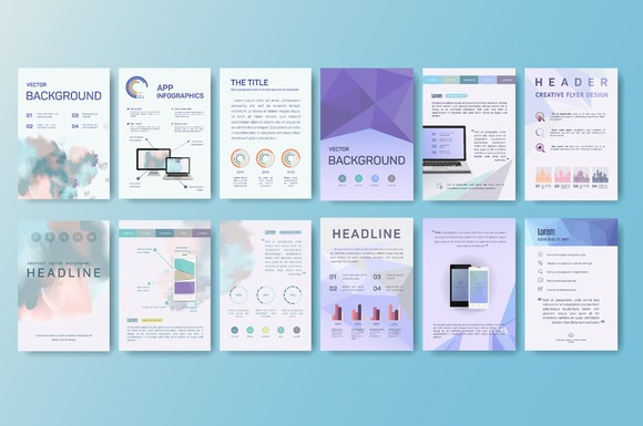 Flyer Design Template Set