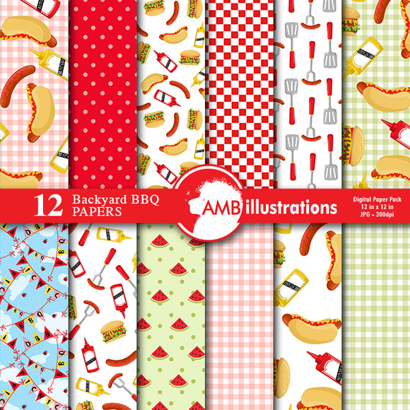 BBQ Digital Papers 913