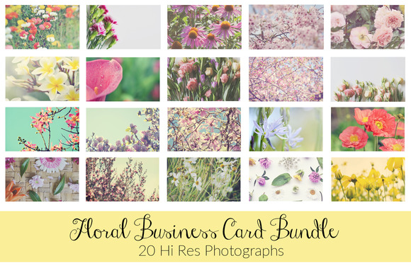 20 Floral Business Card Backgrounds
