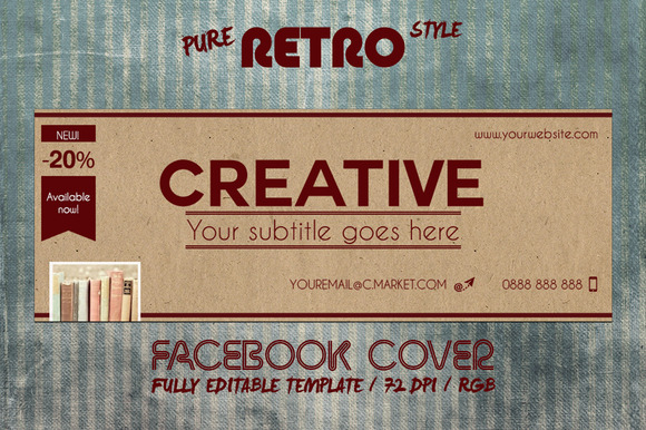 RETRO PAPER Facebook Cover