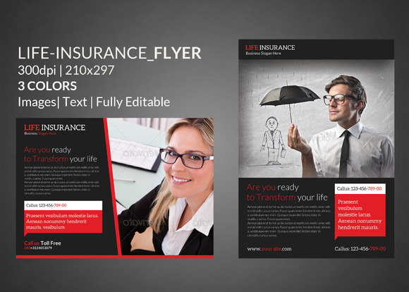 Life Insurance Flyer Print Templates