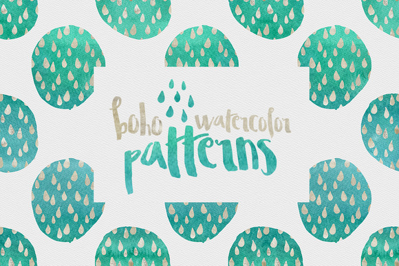 Boho Watercolor Patterns