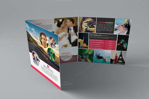 Photography Tri-Fold Square Brochure