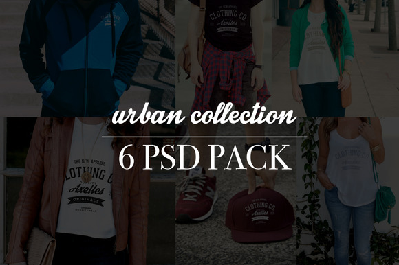 6 Clothing Mockup Urban Collection