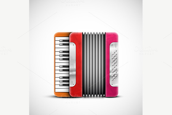 Colorful Accordion